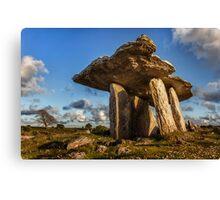 Poulnabrone dolmen the Burren, County Clare, Ireland. Canvas Print