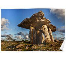 Poulnabrone dolmen the Burren, County Clare, Ireland. Poster