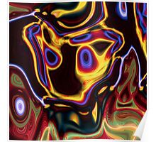 unique grunge cool abstract red hot rod flames Poster