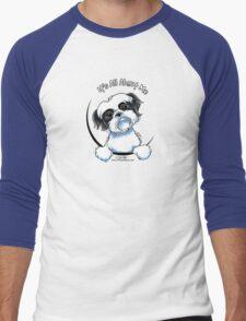 Black/White Shih Tzu :: It's All About Me Men's Baseball ¾ T-Shirt