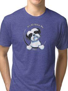 Black/White Shih Tzu :: It's All About Me Tri-blend T-Shirt