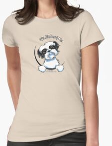 Black/White Shih Tzu :: It's All About Me Womens Fitted T-Shirt