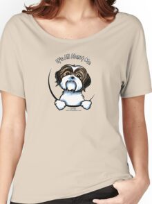 Brown/White Shih Tzu :: It's All About Me Women's Relaxed Fit T-Shirt