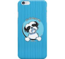 Black/White Shih Tzu :: It's All About Me iPhone Case/Skin