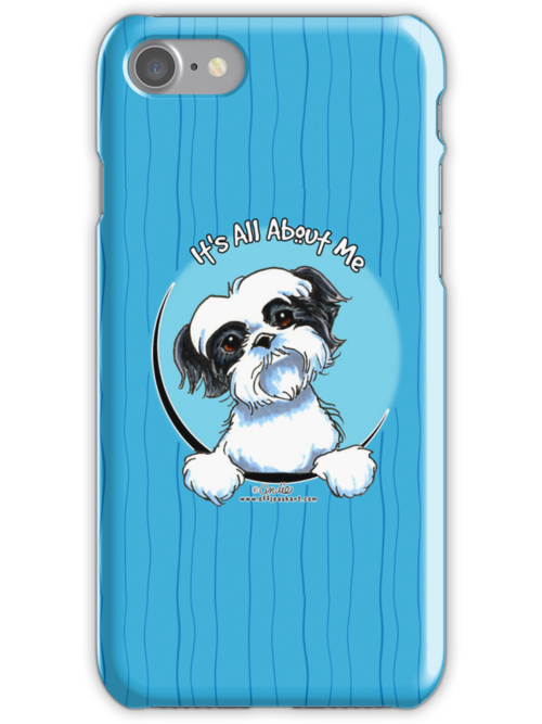 Black/White Shih Tzu :: It's All About Me by offleashart