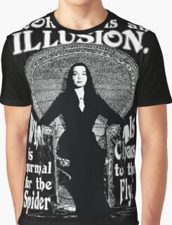"Morticia Addams-""Normal Is An Illusion..."" Graphic T-Shirt"