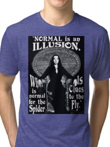 "Morticia Addams-""Normal Is An Illusion..."" Tri-blend T-Shirt"