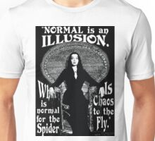 "Morticia Addams-""Normal Is An Illusion..."" Unisex T-Shirt"