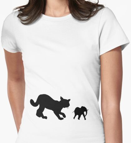 Stalking the Mini Elephant  Womens Fitted T-Shirt