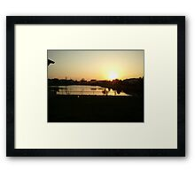Sunset Over Willow Lake Framed Print