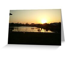 Sunset Over Willow Lake Greeting Card