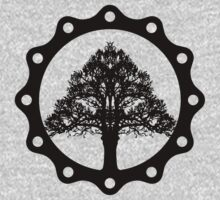 Tree of Life circle, black style T-Shirt