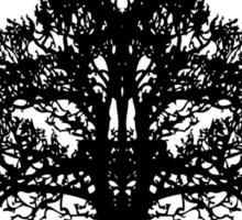 Tree of Life circle, black style Sticker