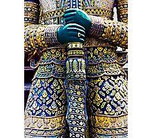 Thai warrior with sword Photographic Print