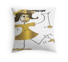 Fifties Girl Throw Pillow