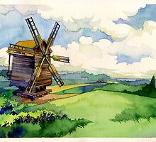Old windmill by Kasheva