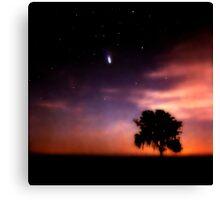 Comet Hale-Bopp at Sunrise. Lake Kissimmee. Canvas Print