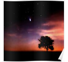 Comet Hale-Bopp at Sunrise. Lake Kissimmee. Poster