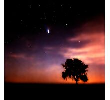 Comet Hale-Bopp at Sunrise. Lake Kissimmee. Photographic Print