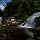 Multiple Waterfalls along the French broad River by DHParsons