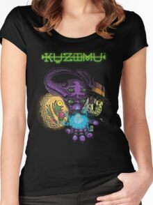 Kuzimu - character faces Women's Fitted Scoop T-Shirt