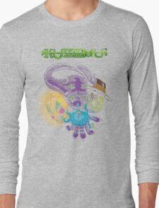 Kuzimu - character faces Long Sleeve T-Shirt