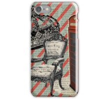 retro jubilee victorian chair london telephone booth iPhone Case/Skin