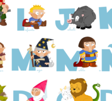 ABC medieval (spanish) Sticker