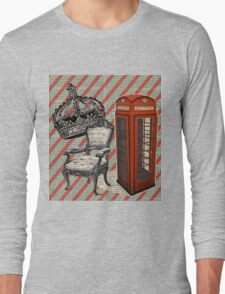 retro jubilee victorian chair london telephone booth Long Sleeve T-Shirt