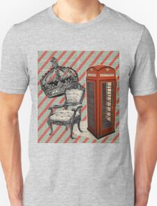 retro jubilee victorian chair london telephone booth Unisex T-Shirt