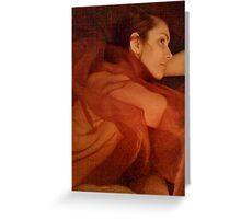 EOS. Ἠώς . The Greek goddess of the dawn . Różanopalca bogini jutrzenki . Featured in Diversuality - Queer and Gender Playground. Greeting Card