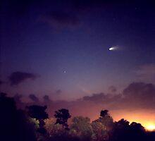 Comet Hale-Bopp. Lake Cypress. by chris kusik