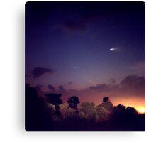 Comet Hale-Bopp. Lake Cypress. Canvas Print