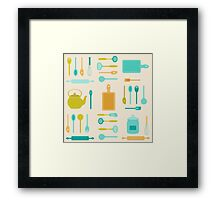 AFE Kitchen Utensils Framed Print