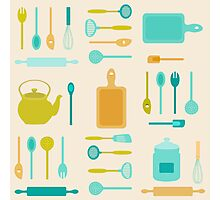 AFE Kitchen Utensils Photographic Print