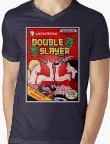 Double Slayer Mens V-Neck T-Shirt