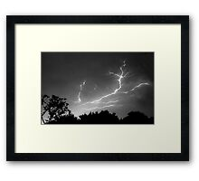 Cloud to Cloud Discharge #1. Framed Print