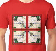 White Poinsettia Festive Decor  Unisex T-Shirt