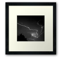 Cloud to Cloud Discharge #2. Framed Print