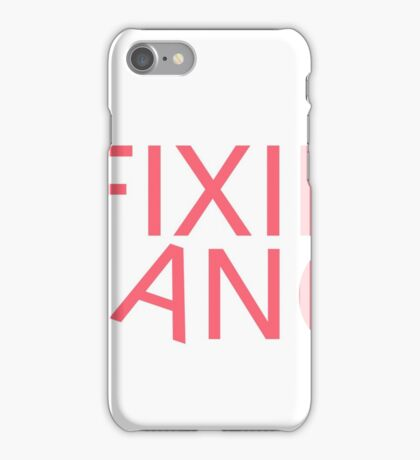 Fixie Gang - pink iPhone Case/Skin