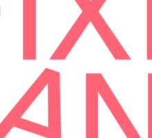 Fixie Gang - pink Sticker