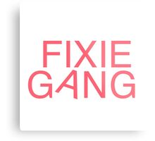 Fixie Gang - pink Metal Print