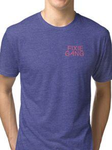 Fixie Gang - pink Tri-blend T-Shirt