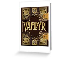 Vampyr Book Greeting Card