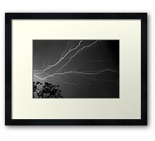 Cloud To Cloud Discharge #3. Framed Print