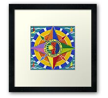 Compass rose Framed Print