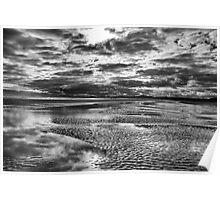 Beach storm Poster