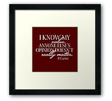 I Know My Value Framed Print