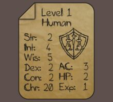 Level 1 - Human [only for Nerd Babies] Baby Tee