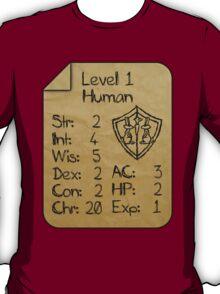 Level 1 - Human [only for Nerd Babies] T-Shirt